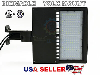 Shoe-box 150w LED Parking Lot  Light Fixture UL DLC LISTED- Yoke Mount