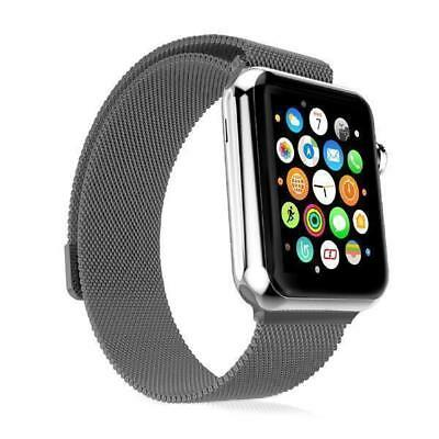 Edelstahl 42 mm Milanaise Armband Apple Watch Serie 3 2 1 Magnetisches Rosegold