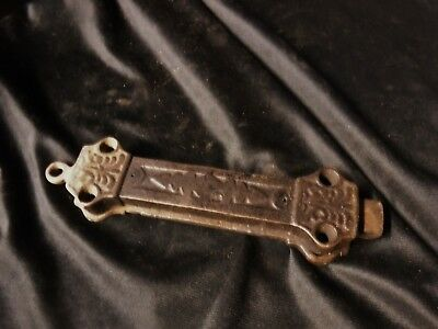 Antique Victorian Ornate SPRING LATCH Cast Iron French Door Barn