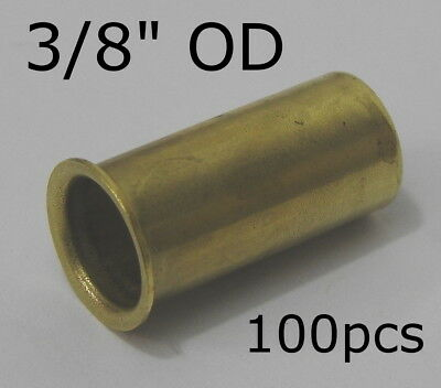 "100 EATON 1/2"" Brass Tubing Insert Air Hydraulic Compression Fitting 2030X8 3/8"""