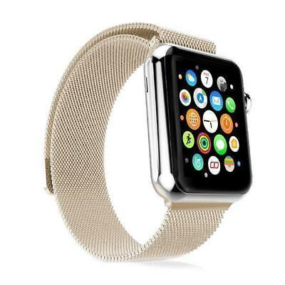 Aluminium Edelstahl 42 mm Milanaise Armband Apple Watch iWatch 3 2 1 Gold