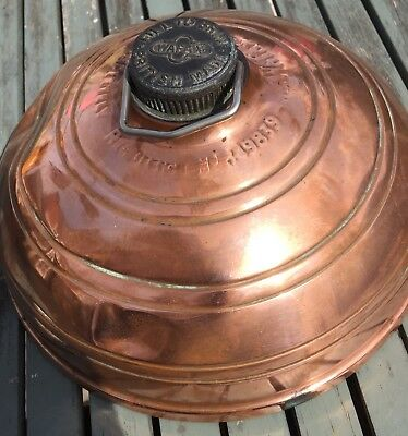 Vintage Copper Wafax Bed /foot Warmer Country House Display