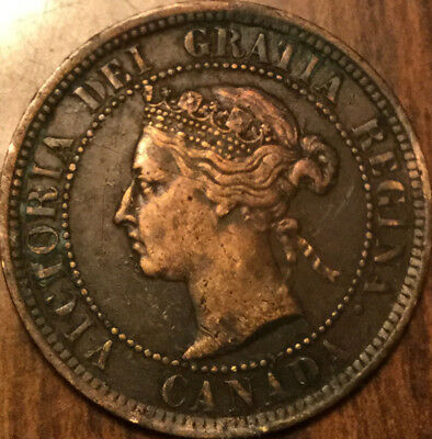 1887 CANADA LARGE 1 CENT PENNY - A better example! Cleaned