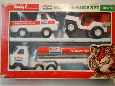 Buddy L Exxon 3 piece service set 1977 #4966D in original box
