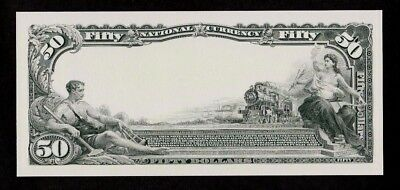 Proof Print or Intaglio Impression by BEP - Back of 1902 $50 National Currency