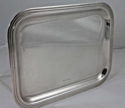 "Christofle Silverplate Small Rectangular Serving Tray 10"" x 8"", Anka Estate"