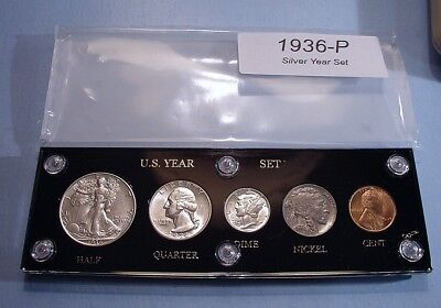 1936 SILVER SET U.S. COINS CHOICE NEAR MINT to MINT UNCIRCULATED w/ BRILLIANCE