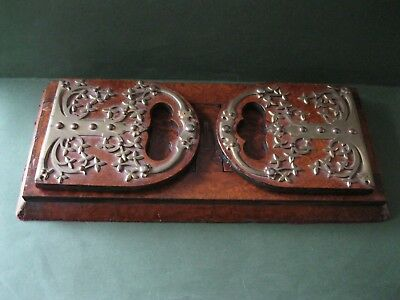 Antique Burr Walnut Book Slide- Baxter Patent