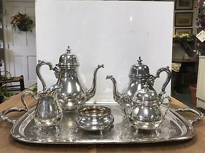 Antique Silver Soldered Tea Set Coffee Service Georgian Court 7pc International