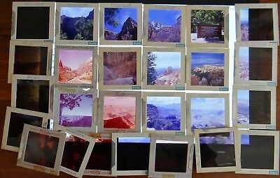 26) Vintage 60mm 2.25 Med Format Slides Bryce Grand Canyon Zion 50's 60's