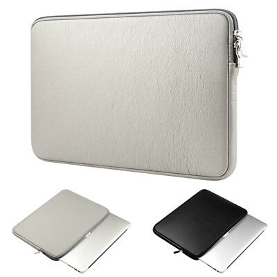 Laptop Sleeve Case Cover PU Leather Bag for MacBook Air Pro 11 12 13.3 15 inch