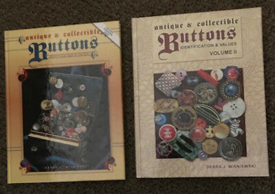 Antique And Collectible Buttons - Identification & Values, Volumes 1 & 2, HC