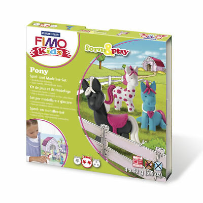 ( 10,65€ / 100 G) New Fimo Kids Form&play Pony, 4 x 42 G
