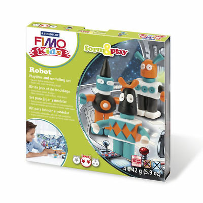 ( 10,65€ / 100 G) New Fimo Kids Form&play Robot, 4 x 42 G, Box