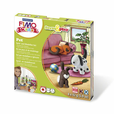 ( 10,65€ / 100 G) New Fimo Kids Form&play Pet, 4 x 42 G, Box