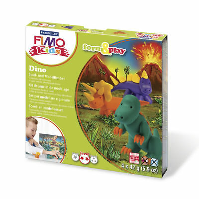 ( 10,65€ / 100 G) New Fimo Kids Form&play Dino, 4 x 42 G, Box