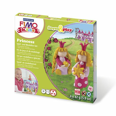 ( 10,65€ / 100 G) New Fimo Kids Form&play Princess, 4 x 42 G, Box