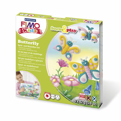 ( 10,65€ / 100 G) New Fimo Kids Form&play Butterfly, 4 x 42 G, Box
