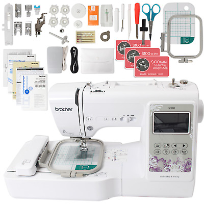"""Brother SE600 Computerized Sewing and Embroidery Machine with 4"""" x 4"""" Embroidery"""