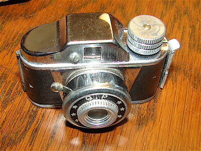 Vintage Japanese QP Miniature Camera with Case----Tiny Camera