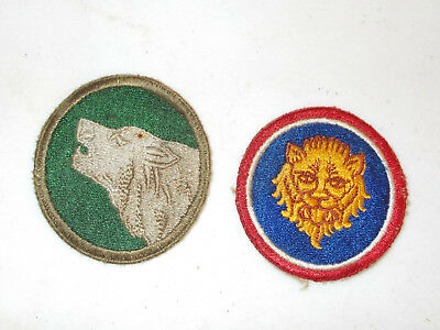 Original WWII US Army Group of 2 Inf. Div. Patches 104th, 106th