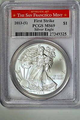 2013 (S) 1oz First Strike Silver American Eagle PCGS MS69 #325