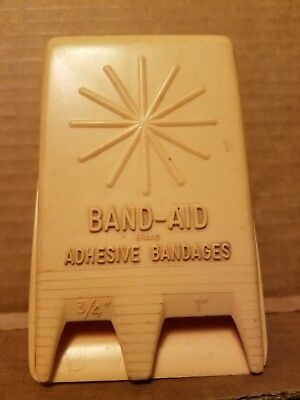 """Vintage - Band-Aid Wall Dispenser - Holds 1"""" & 3/4"""" Band-Aids - Mounting Bracket"""