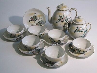 Antique Service From You Coffee' Porcelain Eastern Giapponese Painted
