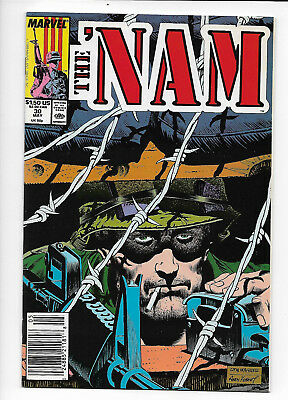 The 'Nam #30 Marvel war comic 1989 NM 9.4 Nice Ron Wagner cover.