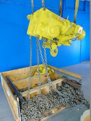 20 Ton Overhead Crane Hoists 40' lift Chester ELM-20 MADE IN USA!