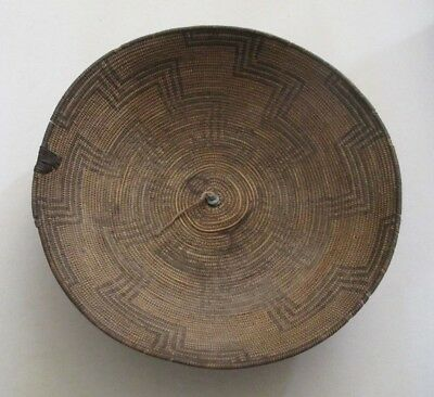 Antique Apache Indian Native American Basket Tray 15 1/2 inches