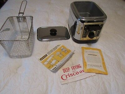 "Antique Nesco Fryryte ""The Original Automatic Electric Deep Fryer"" NWOB"