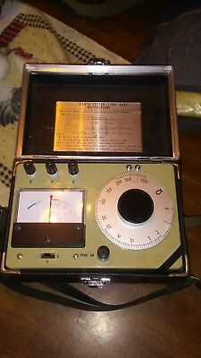 Vintage   Earth Tester With Leather Case