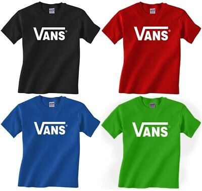 New adult VANS classic logo t-shirt skateboard tee warped tour - Small to 2XL