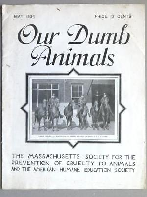 1934 Our Dumb Animals Magazine Mass. Society Prevention of Cruelty Animals Blk5
