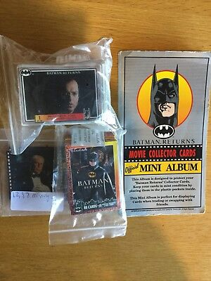 Batman Returns Collectors Cards Movie,full Set,plus Some Sticker Etc Album,1980s