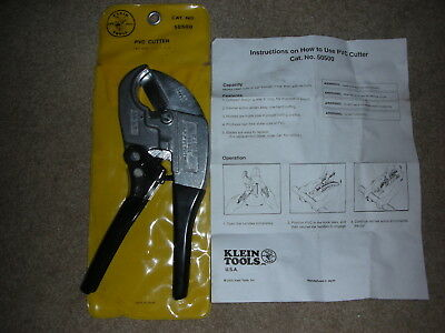 """Klein #50500 Ratcheting PVC Cutter """"MINT UNUSED CONDITION"""" With Instructions"""