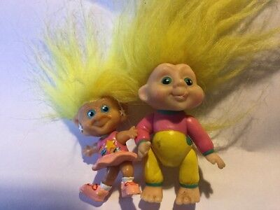Troll Dolls, Applause And Croner. 1991 And 1992,figures,jointed,Star Eyes