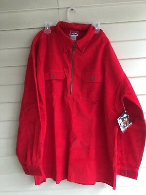 Vintage NWT Marlboro Unlimited Corduroy Pullover Red Mens Size XL Shirt