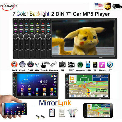 "Double DIN 7""  Car Stereo Radio Bluetooth MP5 FM AUX Player Touch Screen +Camera"
