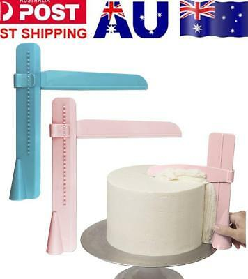 Adjustable Fondant Cake Scraper Icing Piping Cream Spatula Edges Smoother PINK