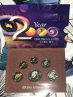 Australia 2000 Uncirculated 6-Coin Year Set by Royal Australia Mint - MINT COND!