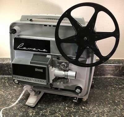 Vintage 3M Revere 8mm Film Movie Projector w/ Power Cord and Take-up Reel AP-718