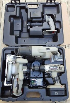 Porter Cable 19.2v cordless tool set Boss circular saw reciprocating saw charger