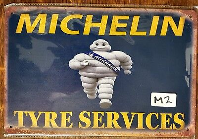 Michelin Tyre Service Metal Tin Signs Bar Shed & Man Cave Signs AU Seller