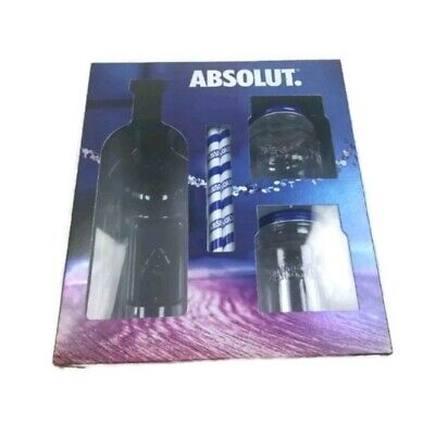 Absolut Vodka Mason Jar Gift Set - Set Of 2
