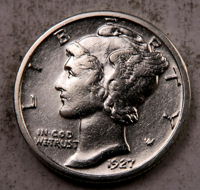 1927 Mercury Dime // Choice Uncirculated-AU // (D3221)