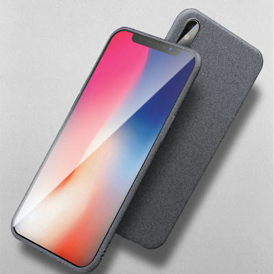 For iPhone X XS Max 7 8 Plus Shockproof Soft TPU Sandstone Matte Back Case Cover