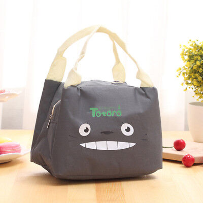 Thermal Insulated Waterproof Lunch Tote Cooler Zipper Bag Bento Lunch Pouch B
