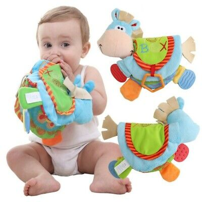 Newborn Baby Happy Study Donkey Toys Cloth Book Intelligence Early Education UK